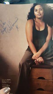 Autógrafo na minha revista da Rita...