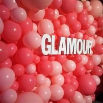 Parede de balões cor de rosa lindo